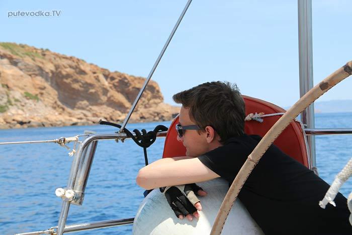 Путеводка. Яхтинг. Греция. Путь на Сунион.