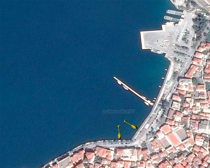 Греция. Пелопоннес. Порт острова Порос. Схема швартовки.