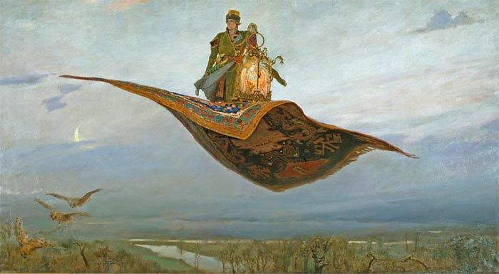 В.М.Васнецов. Ковер-самолет. 1880 г. Холст, масло.