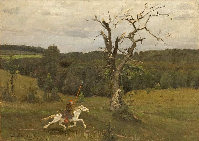 В.М.Васнецов. Гонец. 1881 г. Холст, масло.