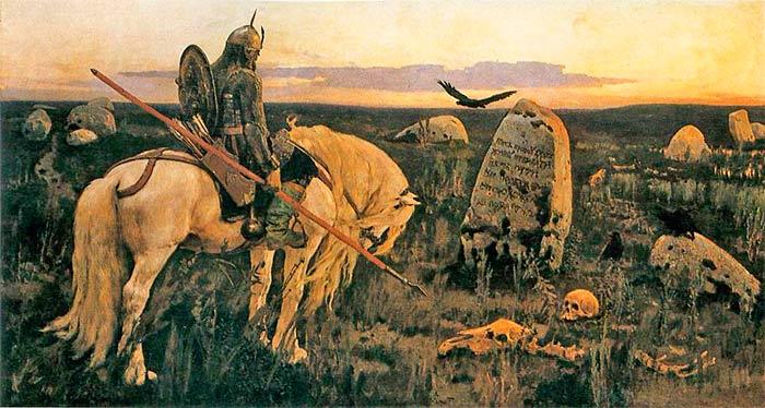 В.М.Васнецов. Витязь на распутье. 1882 г. Холст, масло.