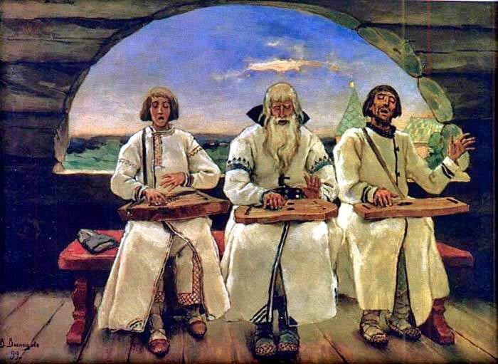 В.М.Васнецов. Гусляры. 1899 г. Холст, масло.