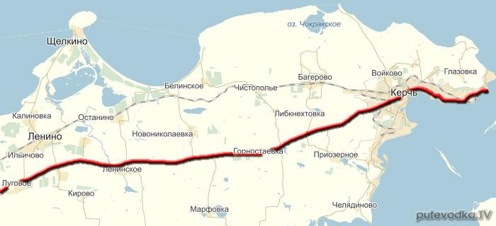 Алушта — порт Крым. Карта маршрута.