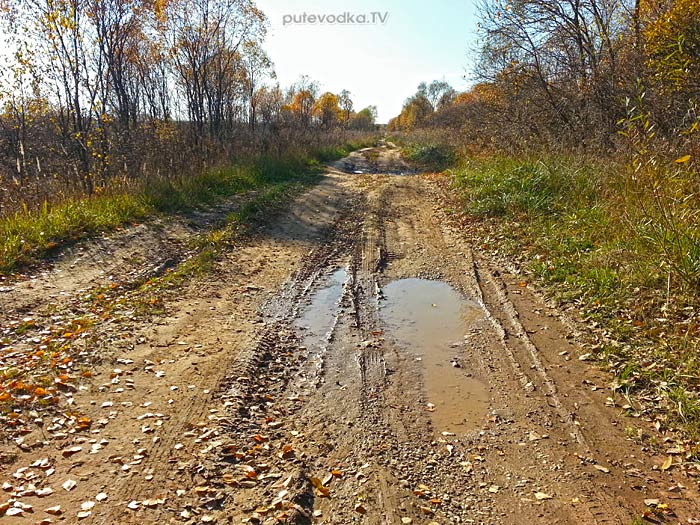 Дорога между Азарово и Дымово