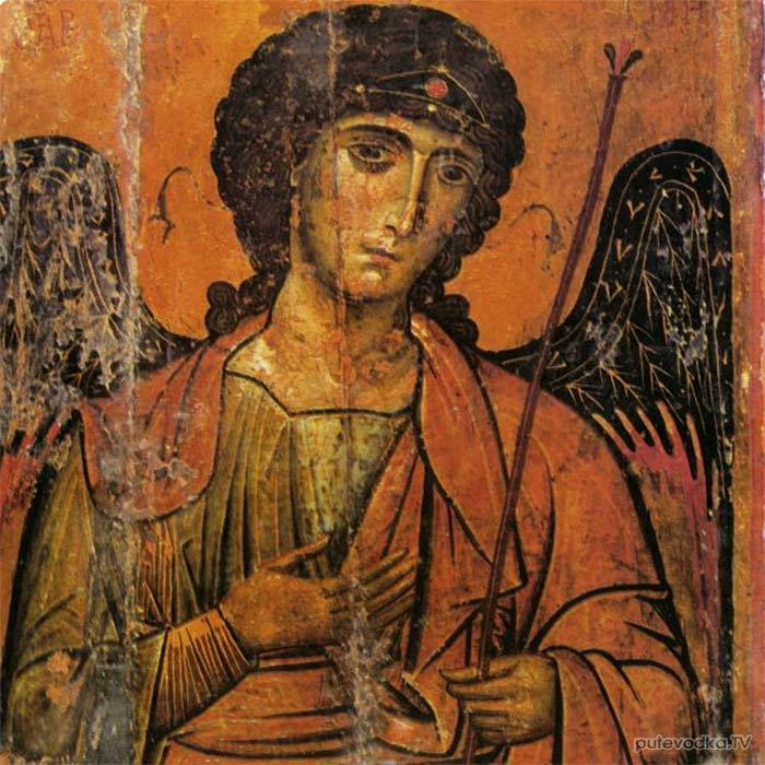 Архангел Михаил. Византийская икона начала XIII века.