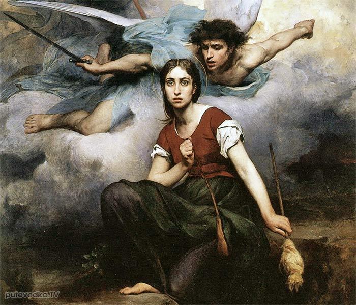 Эжен Тирион. Явление архангела Михаила Жанне де Арк. 1876г.