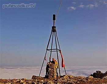 Реперная вышка ГГС СССР на горе Парагильмен в Крыму