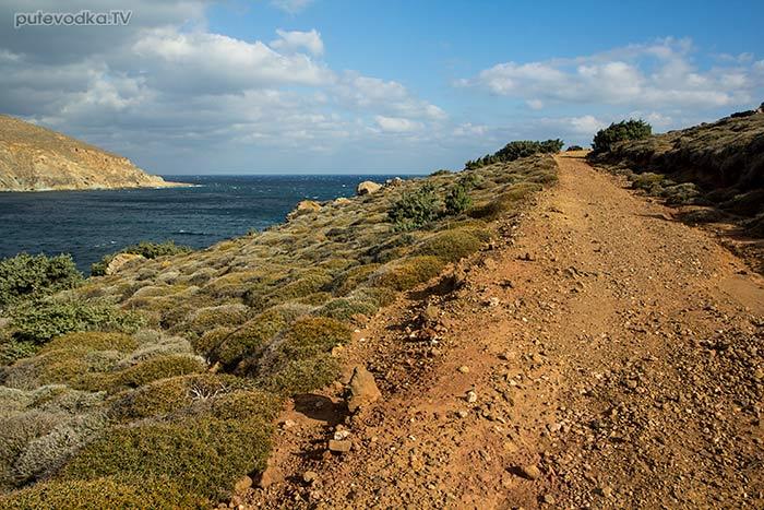 Дорога на мыс Кратзи. Залив Мармара.