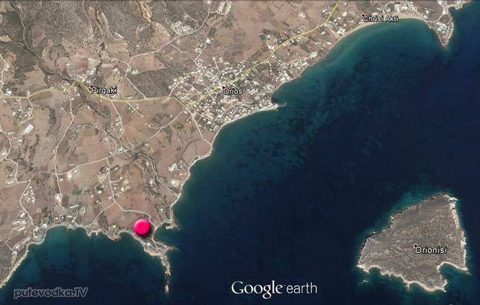 Карта окрестностей Дриоса