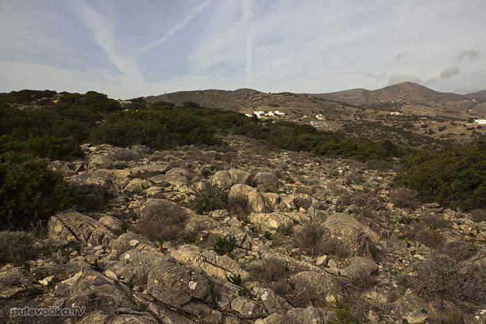 Южная оконечность Пароса. Вид на северо-запад.