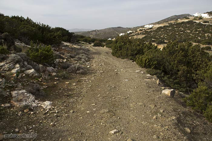 Южная оконечность Пароса. Дорога к перевалу.