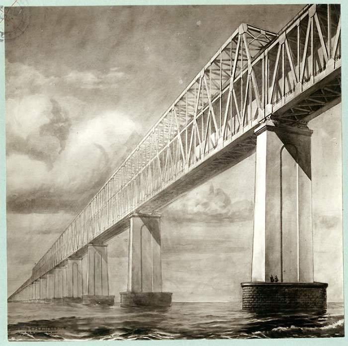 Керченский пролив. Проект моста 1949 г.