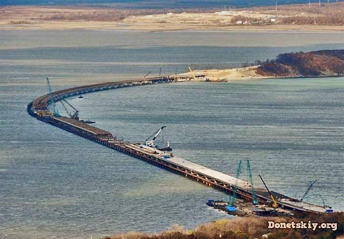 Керченский пролив. Строительство моста. 2016 г.