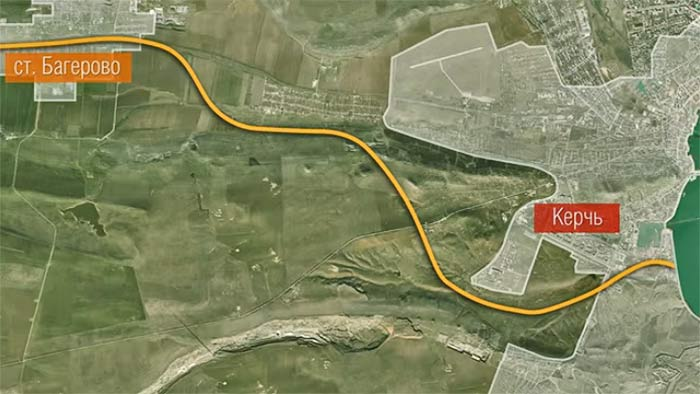 Керченская переправа. Мост. Подъездные пути.