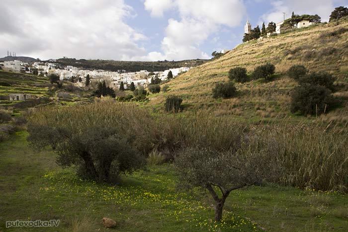 Остров Парос. Византийская тропа. Вид на Лефкес.