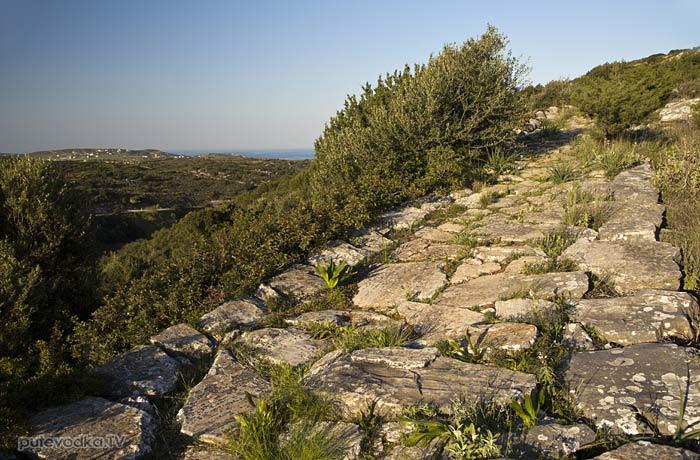 Остров Парос. Византийская тропа.