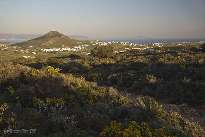 Остров Парос. Византийская тропа. Холм Кефалос, пос. Продромос.