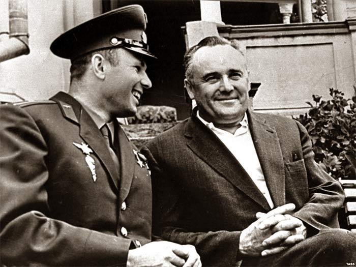 С.П.Королёв и Ю.А.Гагарин