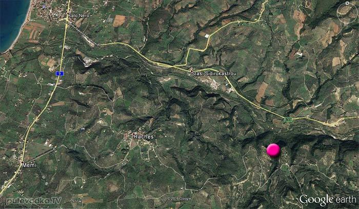 Ущелье Фарангаки Перистерия на карте.