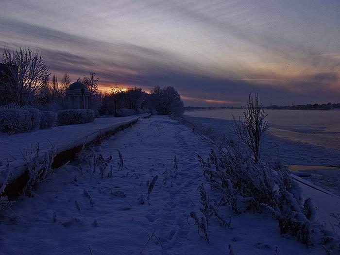 Дубна. Волга. Зима. Закат. Не сегодня.