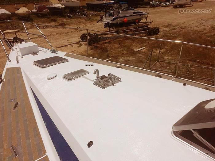 Яхта ПЕПЕЛАЦ. Ремонт на конец 2017 г. Палуба.