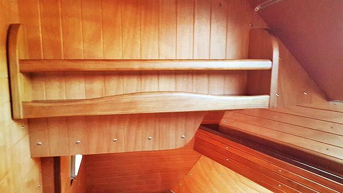Яхта ПЕПЕЛАЦ. Левая кормовая каюта.