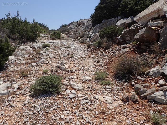 Парос. Каменоломни. Объездная дорога.