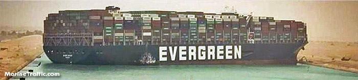 Контейнеровоз «Ever Given» в Суэцком канале