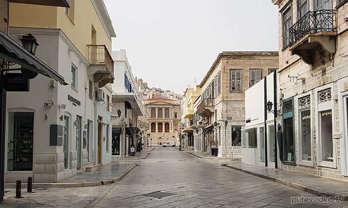 Остров Сирос. Эрмуполис. Главная улица— El. Venizelou.